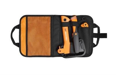 Промо-набор топор Х5+нож для тяжелых работ + садовая пила в сумке - фото 7948