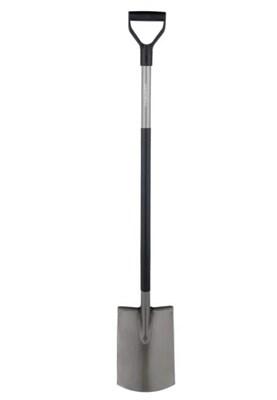 Садовая лопата Fiskars 131400 Эргономик с закругленным лезвием - фото 8100